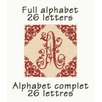 ABC01 - Full alphabet - 26 monograms