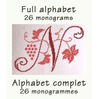 ABC06 - Full alphabet - 26 monograms