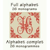 ABC08 - Full alphabet - 26 monograms